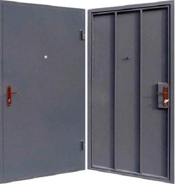 простые дешёвые металлические двери